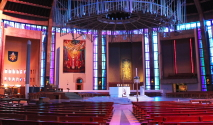 Inside the Metropolitan Cathedral - Art Group visit to Liverpool