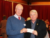 Presentation of a cheque for a Waterbox